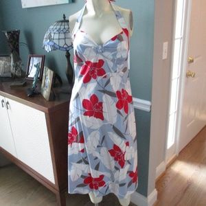 Tommy Bahama Hawaiian Floral Halter Dress 6